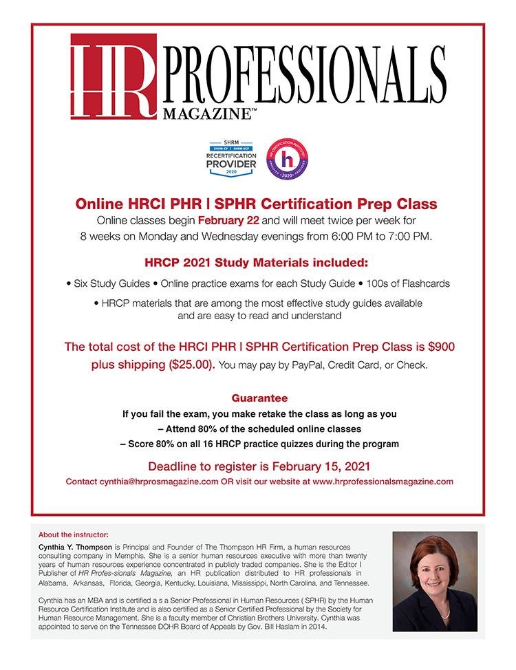 certification exam class hrci prep sphr phr hrprofessionalsmagazine register